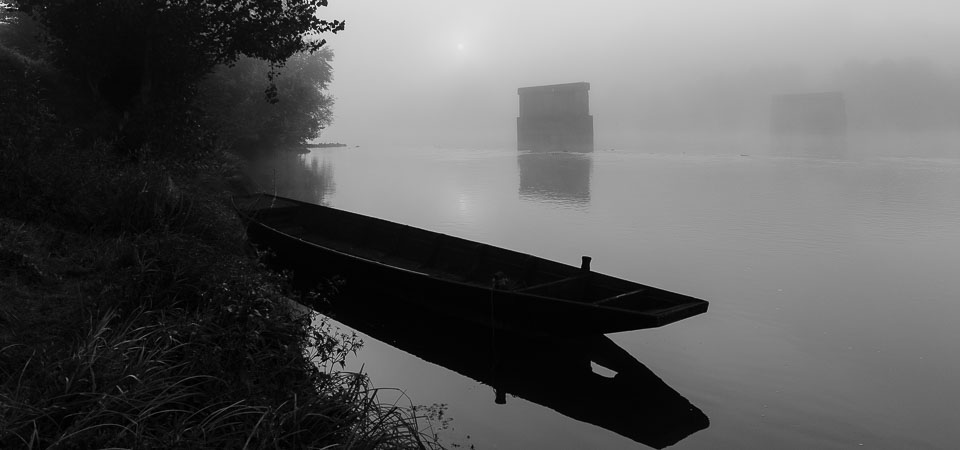 Early Morning Mist on the Loire river, Amboise, France