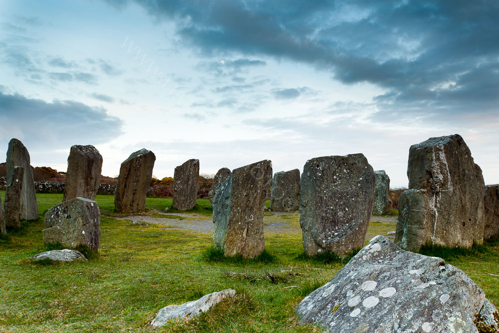 Drombeg stone circle also known as the Druid's Alter, West Cork, Ireland.