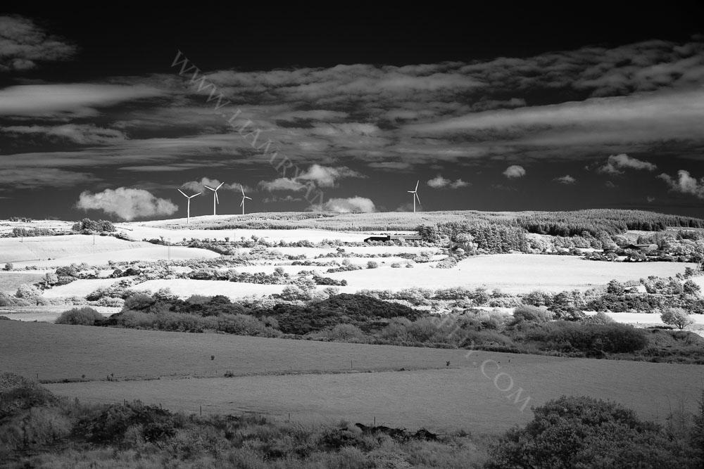 Infrared Picture Of Windmills, West Cork, Ireland