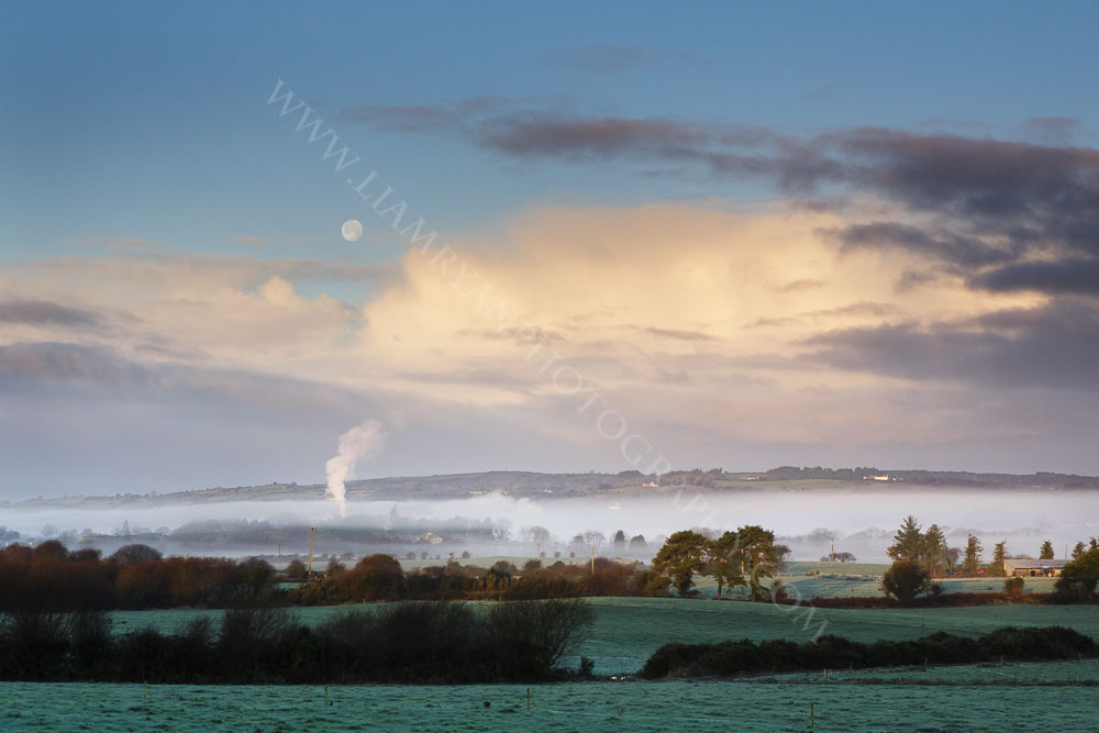 Early Morning With Moon and Mist, Enniskeane Co.Cork