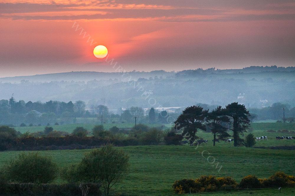 Golden sunset over Enniskeane West Cork