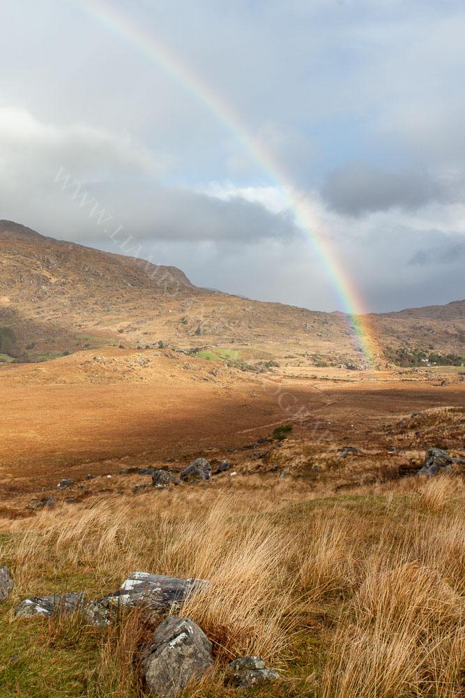 Rainbow Over the Black Valley, Kerry, Ireland.