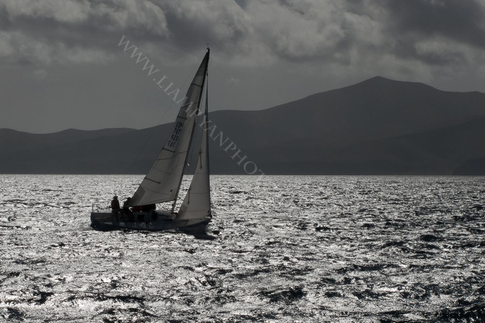 Sailboat in the Evening Sun, Lanzarotte, Canary Islands