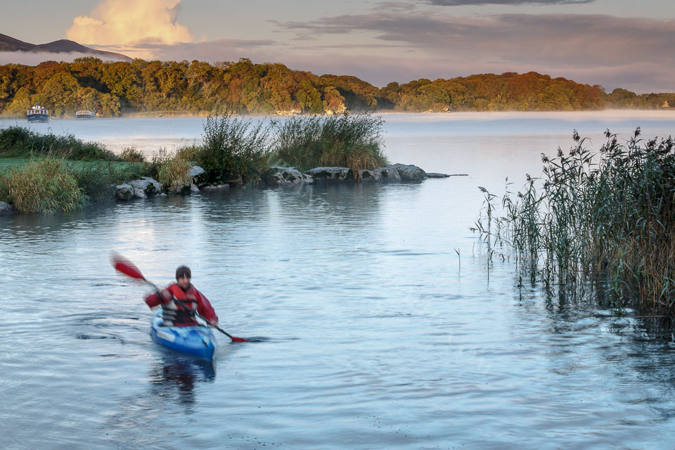 Early Morning Kayak on Lough Leane, Killarney