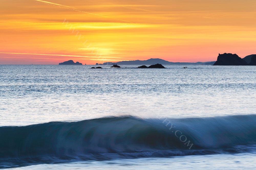 Sunset over Toe Head taken from  Ownahincha, West Cork, Ireland
