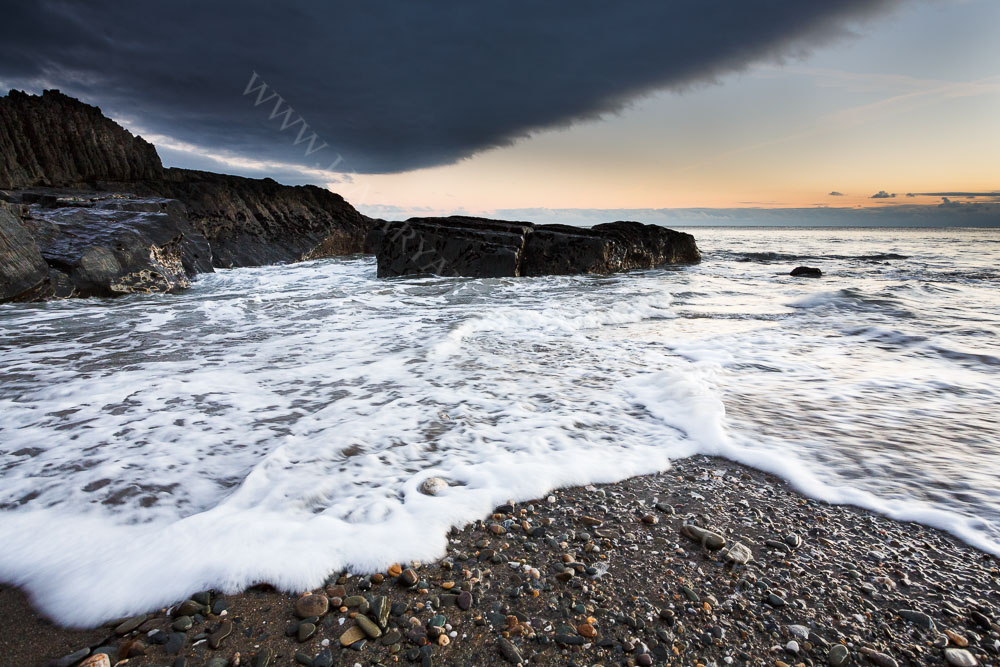 An Incoming Tide at Sunset, Sheeps Cove, West Cork Ireland